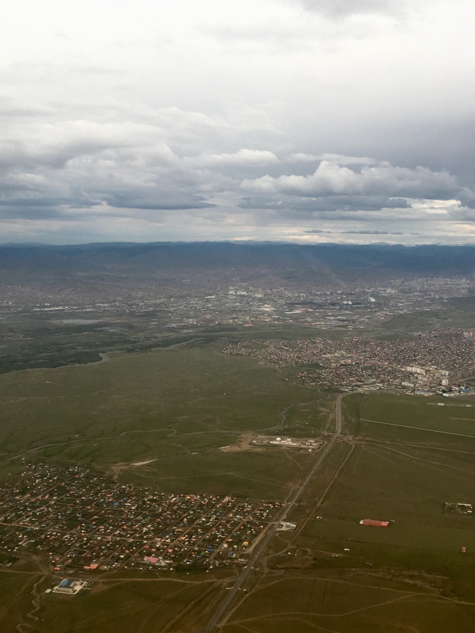 My last view of Mongolia as we fly out